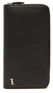 Tod's Grained Leather Travel Wallet - Mens - Black