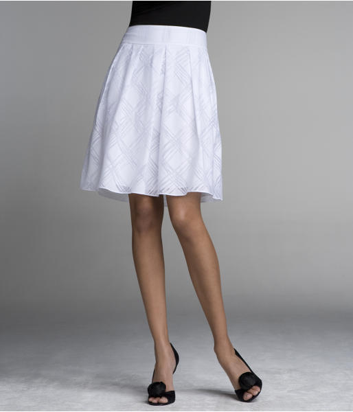 Full Pleated Skirt - Scribbly Plaid