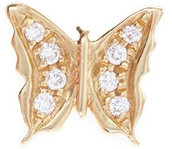Loquet London Diamond 18k yellow gold 'Butterfly' charm - Beauty