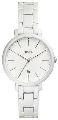 Fossil Jacqueline Three-Hand Date Pearl-White Stainless Steel Watch