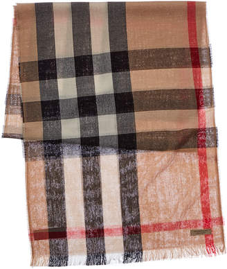 eb29e1b1d98a9 Burberry Lightweight Check Wool & Cashmere-Blend Scarf