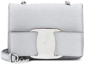 Salvatore Ferragamo Vara Mini metallic shoulder bag
