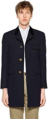 Thom Browne Chesterfield Melton Wool Coat