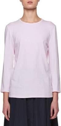 The Row Mave Crewneck Long-Sleeve Cotton Top
