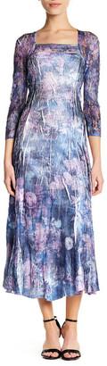 KOMAROV Floral Lace Midi Dress (Petite) $258 thestylecure.com