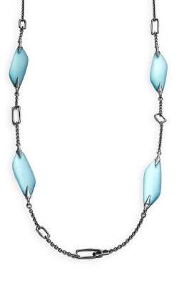 Alexis Bittar Link Station Single Strand Necklace