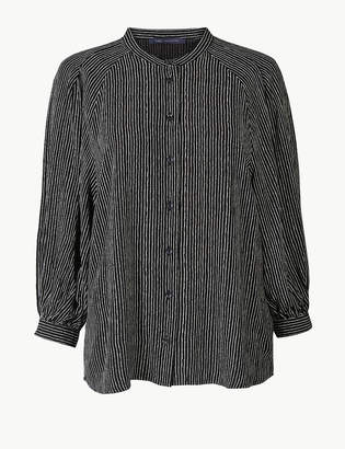 Marks and Spencer Striped 3/4 Sleeve Blouse