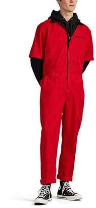 "4HUNNID Men's ""Beware"" Cotton-Blend Mechanic Jumpsuit - Red"