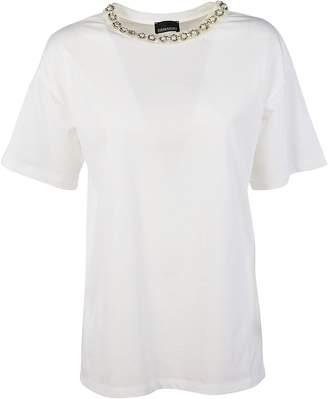 Ermanno Scervino Pearl Embellished T-shirt