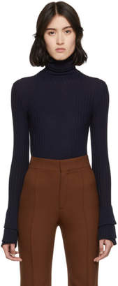 Chloé Navy Merino Wool Turtleneck