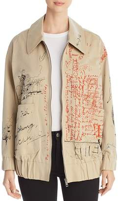 Burberry Barnhall Scribble Bomber Jacket