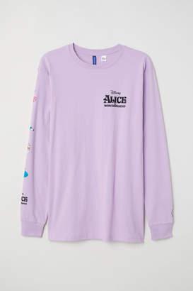 H&M Long-sleeved Jersey Shirt - Purple