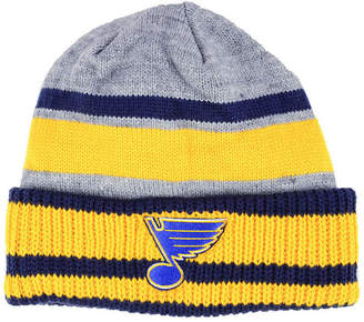 adidas St. Louis Blues Heathered Grey Beanie