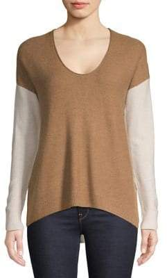 Madewell Colourblock Dropped-Shoulder Top
