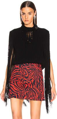 Calvin Klein Fringe Knit in Black | FWRD