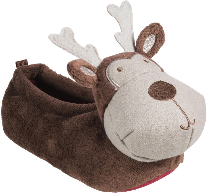 Osh Kosh Brown Reindeer Slippers