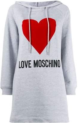 Love Moschino logo hoodie dress