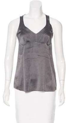 Brunello Cucinelli Sleeveless Silk Top