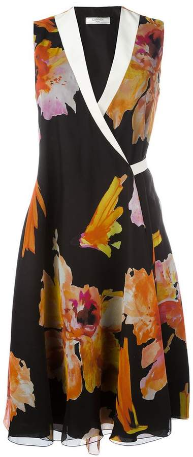 Lanvin floral print dress