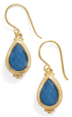Women's Anna Beck Blue Quartz Small Teardrop Earrings $175 thestylecure.com