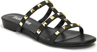 Footnotes Bing - Leather Studded Flat Slide