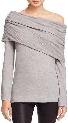 Three Dots Off-The-Shoulder Sweater $128 thestylecure.com