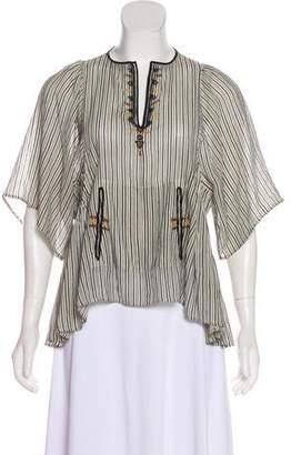 Etoile Isabel Marant Embroidered Striped Tunic