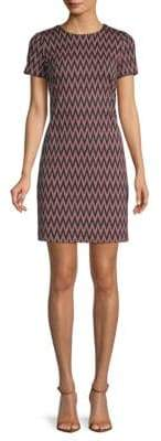 Calvin Klein Chevron-Patterned Mini Sheath Dress
