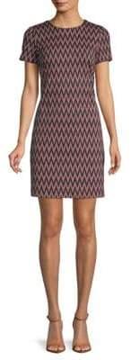 Calvin Klein Chevron-Patterned Mini Sheath Dress