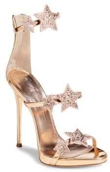 Giuseppe Zanotti Coline Stars Leather Ankle-Strap Sandals