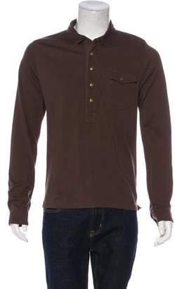 Billy Reid Long Sleeve Polo Shirt