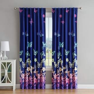 Mainstays Kids Mainstay Kids Butterfly Window Grommet Top Curtain Panel Pair, Multiple Sizes Available