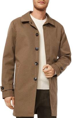 Michael Kors Belted Plaid Overcoat
