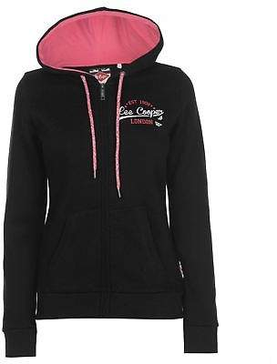 Lee Cooper Womens Classic Zipped Hoodie Zip Hoody Hooded Top