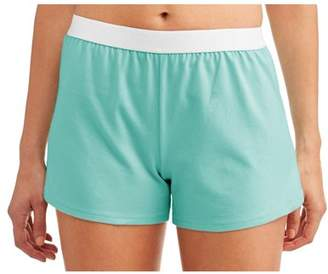 Athletic Works Junior's Core Active Dolphin Hem Knit Shorts With Elastic Waistband