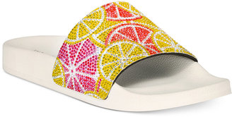 INC International Concepts Women's Peymin Pool Slide Sandals, Only at Macy's $49.50 thestylecure.com