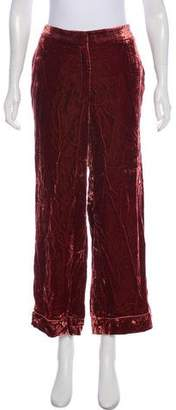 Barneys New York Barney's New York Wide-Leg Crushed Velvet Pants