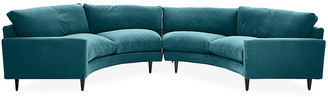 Robin Bruce Oslo Curved Sectional - Peacock Velvet