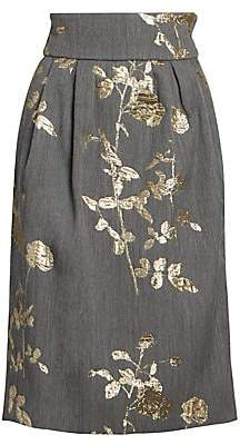 Dries Van Noten Women's Floral Midi Skirt