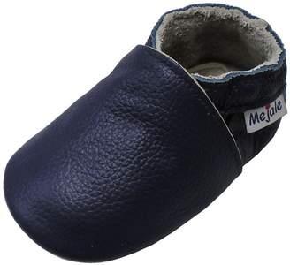Mejale Baby Shoes Soft Soled Leather Moccasins Anti-skid Infant Toddler Prewalker(12-18 Mo./5.5 In)