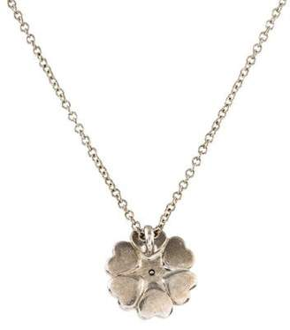 Tiffany & Co. Diamond Flower of Hearts Pendant Necklace