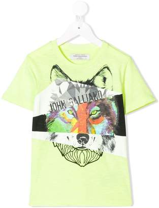 John Galliano wolf print T-shirt