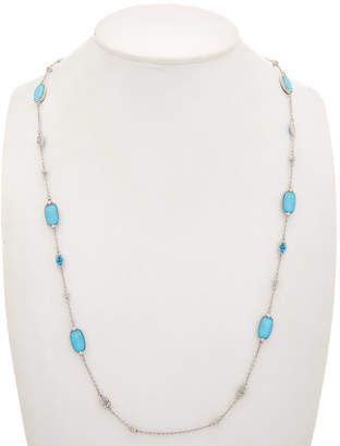Judith Ripka Gold Coast Silver 34In Necklace