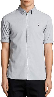 AllSaints Redondo Half Sleeve Slim Fit Button-Down Shirt