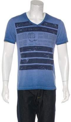 John Galliano Woven Printed T-shirt