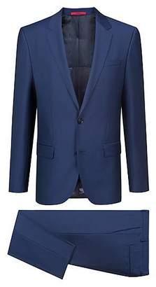 HUGO BOSS Slim-fit suit in patterned virgin wool