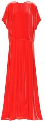 Valentino Velvet silk-blend gown