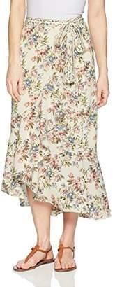 Max Studio Women's Maxi Ruffle Skirt with Side-Tie
