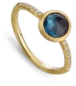 Marco Bicego 'Jaipur' Tourmaline & Pave Diamond Stackable Ring