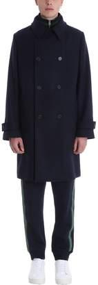 Stella McCartney Blue Wool Double Breasted Coat